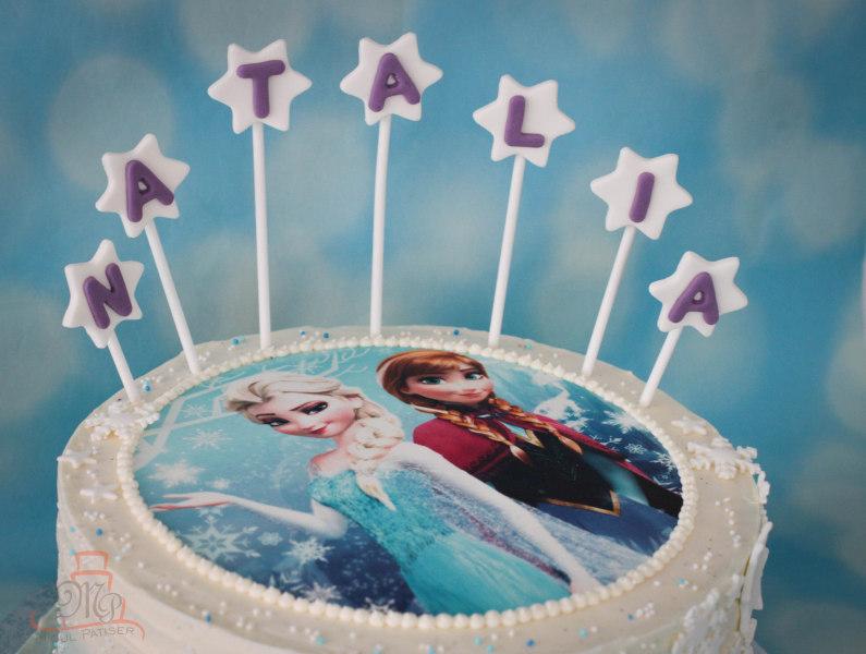 Tort Frozen poza Anna si Elsa