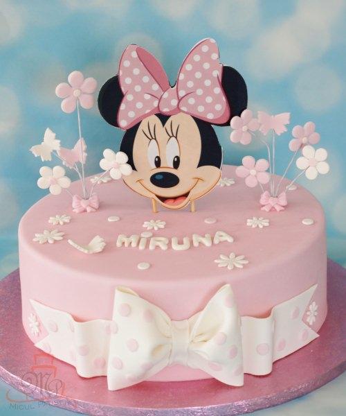 Tort Minnie fundite si flori-M
