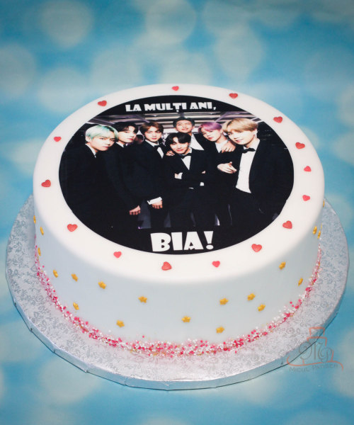 Tort print personalizat BTS-M