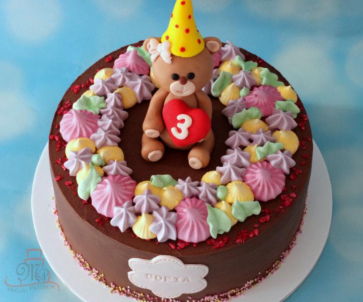 Tort fetita figurina ursulet