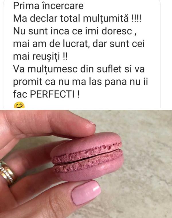 Testimonial 6 curs macarons