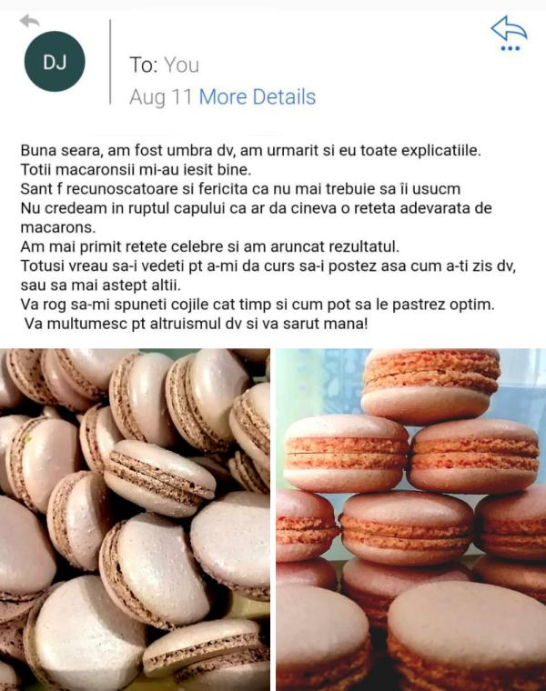 Testimonial 8 curs macarons