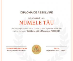 Diploma curs Macarons Perfecti